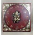 Tableau Ganesh Rouge et Or - 60x60 - TB045