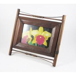Cadre photo en teck et Bambou  10x15 - CP025