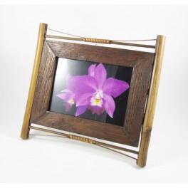 Cadre photo en teck et Bambou - 13x18 - CP027