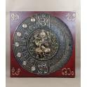 Tableau Ganesh Rouge et Or - 60x60 - TB060