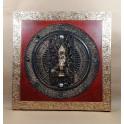 Tableau Bouddha Rouge et Or - 60x60 - TB062