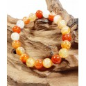 Bracelet de Pierres d'Agate Light Orange - 8 mm