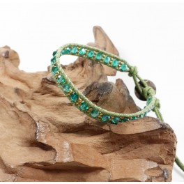 Bracelet Ethnique Vert - BR075