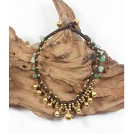 Bracelet de cheville en laiton et Aventurine - BRC015