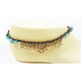 Bracelet de cheville en laiton et Turquoise - BRC018