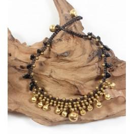 Bracelet de cheville en laiton et Onyx - BRC019