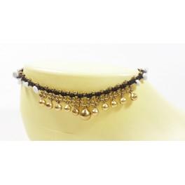 Bracelet de cheville en laiton et Howlite - BRC020