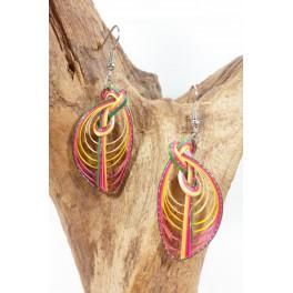 Boucles d'oreilles en Bambou (064)