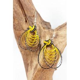 Boucles d'oreilles en Bambou (066)