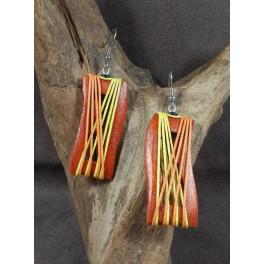 Boucles d'oreilles en Bois de Manguier (004)