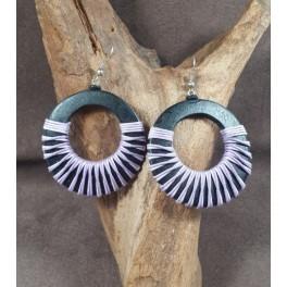 Boucles d'oreilles en Bois de Manguier (008)