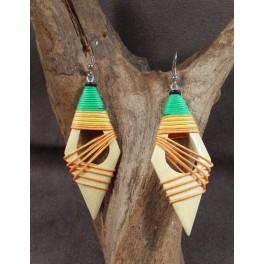 Boucles d'oreilles en Bois de Manguier (017)