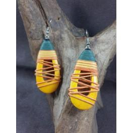 Boucles d'oreilles en Bois de Manguier (022)