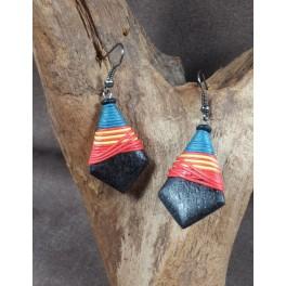 Boucles d'oreilles en Bois de Manguier (024)