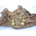 Boucles d'oreilles en Laiton et Howlite - BC026