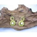 Boucles d'oreilles en Laiton et Howlite - BC031