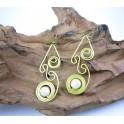 Boucles d'oreilles en Laiton et Howlite - BC032