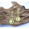 Boucles d'oreilles en Laiton et Howlite - BC033