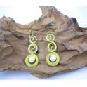 Boucles d'oreilles en Laiton et Howlite - BC034