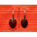 """Boucles d'oreilles en noix coco """"Ovale"""""""