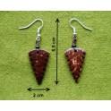 """Boucles d'oreilles en noix coco """"Bai-Lan"""""""