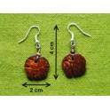"""Boucles d'oreilles en noix coco """"Chang"""""""