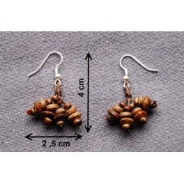 """Boucles d'oreilles en noix coco """"Kala"""""""