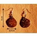 """Boucles d'oreilles en noix coco """"Ma-Li"""""""