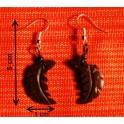 """Boucles d'oreilles en noix coco """"Feuille"""""""