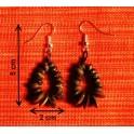 """Boucles d'oreilles en noix coco """"Louk"""""""