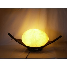 Lampe Barque En Bambou
