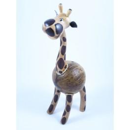 Tirelire Girafe en noix de coco