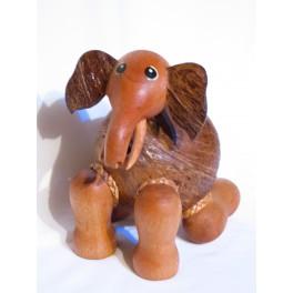 Tirelire Eléphant en noix de coco N°2