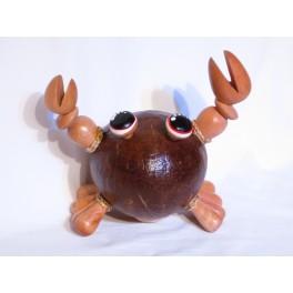 Tirelire Crabe en noix de coco