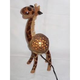 Lampe Girafe 40cm en Noix de Coco