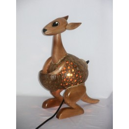 Lampe Kangourou en Noix de Coco