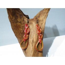 Boucles d'oreilles en Bambou (004)