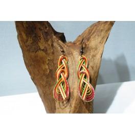 Boucles d'oreilles en Bambou (007)
