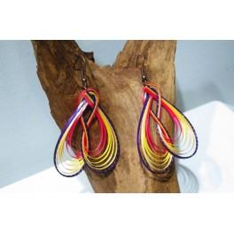 Boucles d'oreilles en Bambou (008)