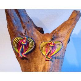 Boucles d'oreilles en Bambou (018)
