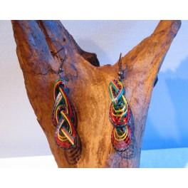 Boucles d'oreilles en Bambou (028)