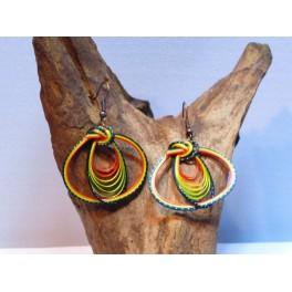 Boucles d'oreilles en Bambou (035)