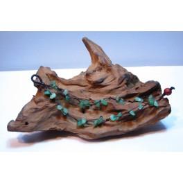 Bracelet en Fil de coton ciré et pierres de Jade