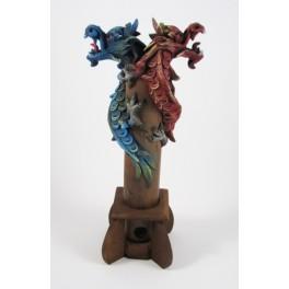 Brule Encens Double Dragon Bleu et Rouge