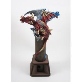 Brule Encens Double Dragon Volant Bleu et Rouge