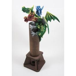 Brule Encens Dragon Volant Vert à 3 têtes
