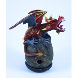 Cône Brûle Encens Dragon Volant Rouge