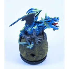 Cône Brûle Encens Dragon Volant Bleu