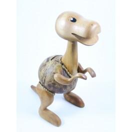 Tirelire Tyrannosaure en noix de coco