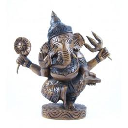 Statue de Ganesh en Teck